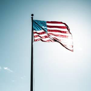 USA flag on a flagpole