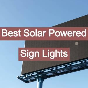 best solar powered billboard sign lights